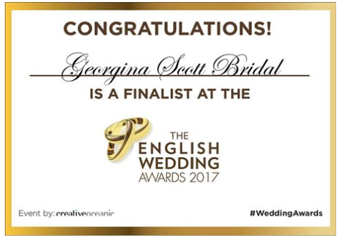 Georgina Scott Bridal wedding awards