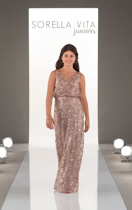 20de69c9e An ultra-glamorous look for your all-important junior bridesmaids ...